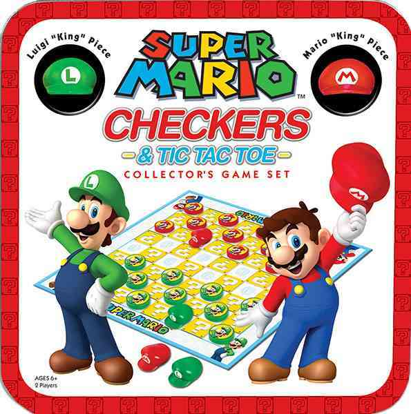 Super Mario Checkers & Tic Tac Toe Collector+�s Game Set By Usaopoly (COR)